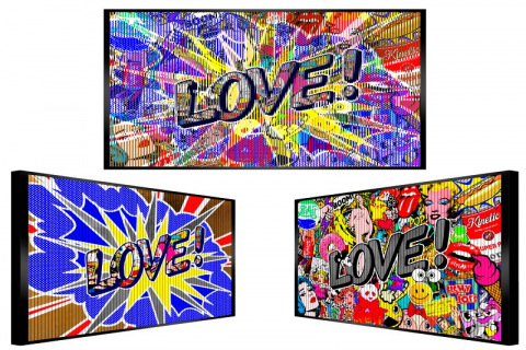 Art pops out of love
