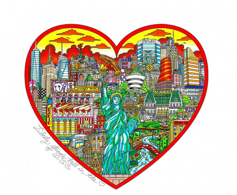 Liberty Stands Tall In the Heart of  the Big Apple