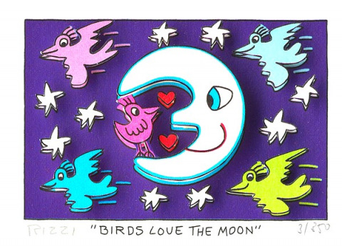 Birds love the moon