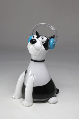 Glassy puppy
