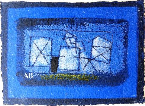 Paysage bleu (Village I)