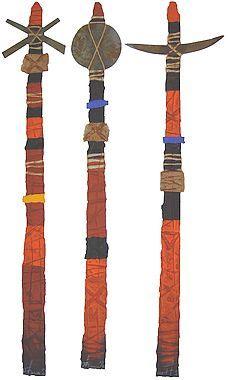 Ogun Omulu Oxum (triptyque)