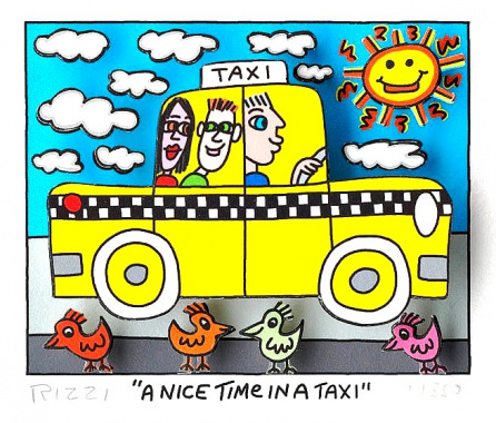 A nice time in a taxi