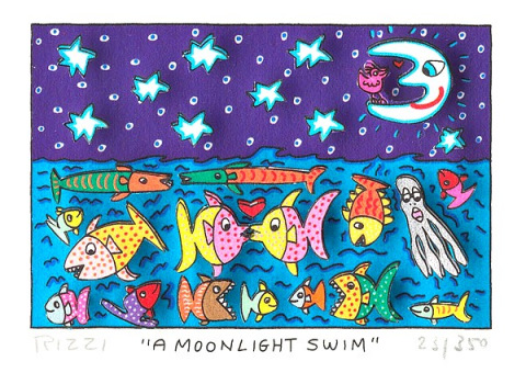 A moonlight swim